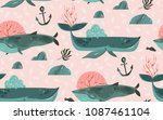 hand drawn vector abstract... | Shutterstock .eps vector #1087461104