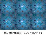 seamless sixties style mod pop... | Shutterstock . vector #1087464461