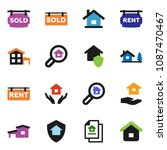 solid vector icon set | Shutterstock .eps vector #1087470467