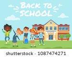 vector cartoon style back to... | Shutterstock .eps vector #1087474271