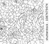 vector succulents seamless... | Shutterstock .eps vector #1087475474