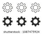settings vector icons set.... | Shutterstock .eps vector #1087475924