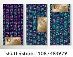 vector set packaging templates... | Shutterstock .eps vector #1087483979