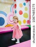 portrait little cute baby child ... | Shutterstock . vector #1087485275
