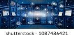 internet data center room with...   Shutterstock . vector #1087486421