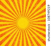 sun with rays illustration  old ... | Shutterstock .eps vector #108749219