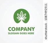 modern cannabis logo template | Shutterstock .eps vector #1087492511