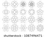 flower icon set  | Shutterstock .eps vector #1087496471