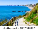 playa de carvajal  fuengirola ... | Shutterstock . vector #1087509047