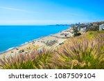 playa de carvajal  fuengirola ... | Shutterstock . vector #1087509104