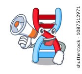 with megaphone dna molecule... | Shutterstock .eps vector #1087512971