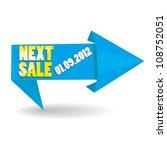next sale image. vector sale... | Shutterstock .eps vector #108752051