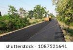 asphalt road is rebuilding. | Shutterstock . vector #1087521641