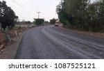 asphalt road is rebuilding. | Shutterstock . vector #1087525121