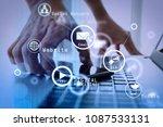 digital marketing media ... | Shutterstock . vector #1087533131