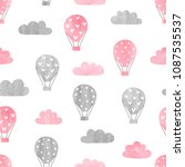 seamless pattern with... | Shutterstock .eps vector #1087535537