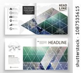 business templates for square... | Shutterstock .eps vector #1087535615