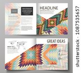 business templates for square...   Shutterstock .eps vector #1087535657