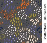 vector organic seamless... | Shutterstock .eps vector #1087536521