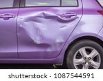 body and door of modern car get ... | Shutterstock . vector #1087544591