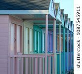Colourful Beach Hut Frontage