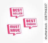 best seller  best choice   must ...   Shutterstock .eps vector #1087546337