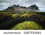 majestic landscape on sunny day.... | Shutterstock . vector #1087553081