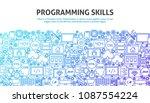 programming skills concept.... | Shutterstock .eps vector #1087554224