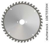 circular saw blade. realistic... | Shutterstock .eps vector #1087555544