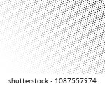 black and white dotted halftone ... | Shutterstock .eps vector #1087557974