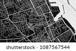 black white map city palermo | Shutterstock .eps vector #1087567544