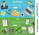 auditing  tax  business... | Shutterstock .eps vector #1087569515