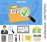 auditing  business accounting... | Shutterstock .eps vector #1087569521