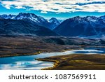 the landscape of the lake with... | Shutterstock . vector #1087569911
