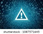 white attention sign inside... | Shutterstock . vector #1087571645