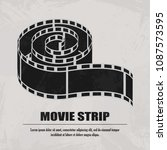 reel film isolated icon vector...   Shutterstock .eps vector #1087573595