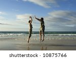 man and woman jumping in a... | Shutterstock . vector #10875766