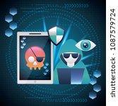 cyber security digital | Shutterstock .eps vector #1087579724