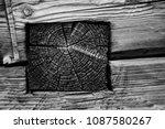 log house construction... | Shutterstock . vector #1087580267