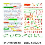 vector correction marks set ...   Shutterstock .eps vector #1087585205