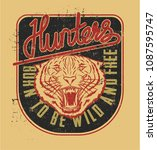 hunters college calligraphy... | Shutterstock .eps vector #1087595747