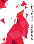 vector geometric red polygonal... | Shutterstock .eps vector #1087598954