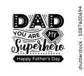 typography poster 'dad you are... | Shutterstock .eps vector #1087600694