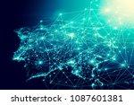 earth from space. best internet ... | Shutterstock . vector #1087601381