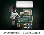 Small photo of ADF control unit ,Navigation System , Avionics equipment in aircraft with maintenance.
