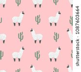 seamless pattern with cute... | Shutterstock .eps vector #1087603664
