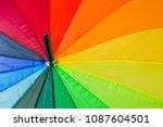colorful umbrella   abstract... | Shutterstock . vector #1087604501