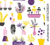 vector pattern with hand drawn... | Shutterstock .eps vector #1087620824