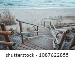 Footbridge Over A Dune At The...