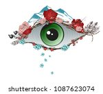 abstract illustration of an eye ... | Shutterstock .eps vector #1087623074